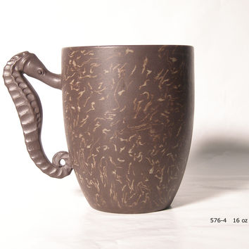 Sea Horse Clay Tea Mug