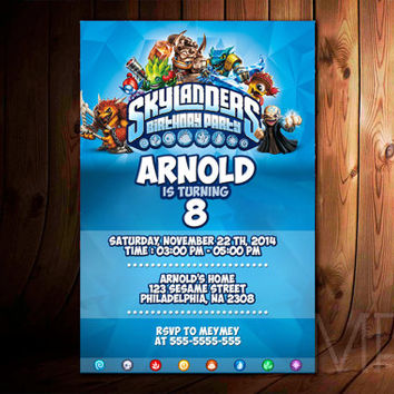 Skylanders Birthday Party Best Design For Birthday Invitation, Party Kids