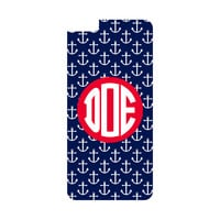 Navy Anchor Personalized Monogrammed iPhone or Samsung Galaxy Case
