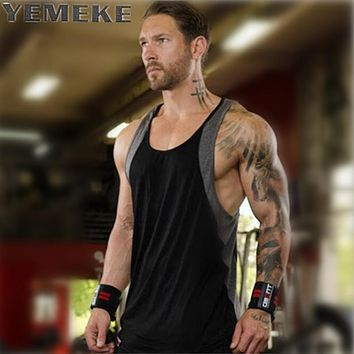 Men's Vigor Tank Tops Fitness Patchwork Clothing Low Cut Side Arm Holes Mesh Active wear Summer Vest Tank Tops