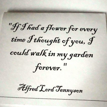 Romantic Valentine, Love Card, If I Had A Flower, Alfred Lord Tennyson ,