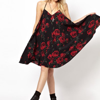 ASOS | ASOS Rose Print Swing Cami Dress at ASOS