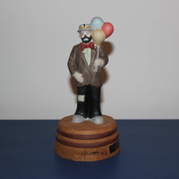 Emmett Kelly Jr. Musical Balloon Man Figurine, Flambro, Clowns