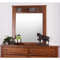 Sunny Designs Sedona Petite Mirror In Rustic Oak