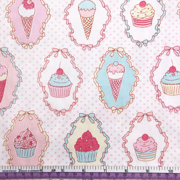 40985 Fabric 50*147cm cake ice-cream flowers series high quality printed polyester ribbon wedding gift wrap