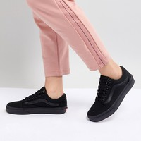 Vans Classic Old Skool Trainers In All Black at asos.com
