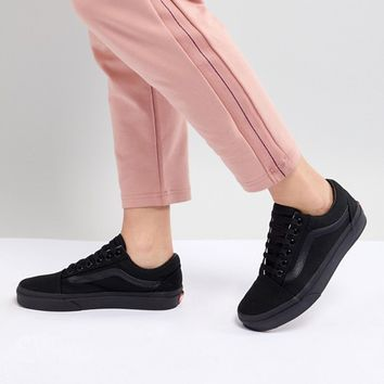 Vans Classic Old Skool Sneakers In All Black at asos.com
