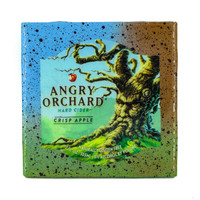 Angry Orchard - Crisp Apple - Handmade Recycled Tile Coaster