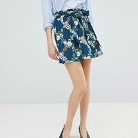 Oasis Fitzwilliam Paperbag A-Line Skirt at asos.com