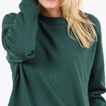 Warm Thoughts Tunic Dress | Hunter Green