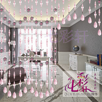 Handmade acrylic beaded door curtain, hanging beaded curtains, acrylic beaded curtain for home decoration and wedding decoration Y30-2