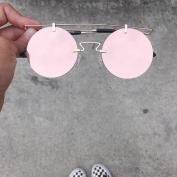 Higher Self Mirrored Round Vintage Sunnies