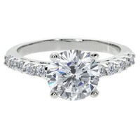 4.30 Ct Round Brilliant White clear Zirconia CZ Engagement Wedding Ring
