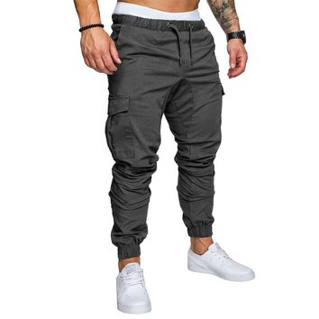 Men Joggers 2018 Spring New Brand Pants Men Clothing High Quality Long Pants Elastic Male Trousers Mens Joggers