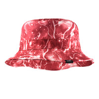 Lightning Faded Red Bucket Hat