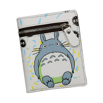 2017 Japan Cartoon Wallets With Zipper Coin Pocket ATTACK ON TITAN / MY NEIGHBOR TOTORO Wallet Cute Cat Purse Girls Anime Wallet