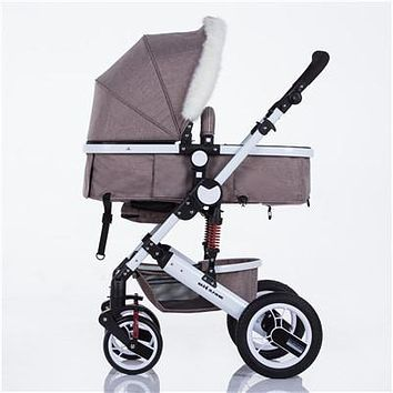 zhilemei Baby carriage Baby Stroller Baby Stroller Lightweight Folding 2B1 winter and summer children free shipping