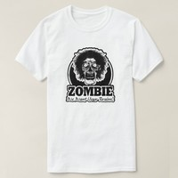 ZOMBIE We Want Your Brains Ver.3 Black & White T-Shirt