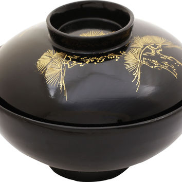 JAPANESE LACQUERED BOWL OWAN