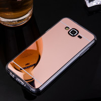 Phone Case For Samsung Galaxy J7 Mirror Case Soft TPU Back Cover Case For Galaxy J700 J700F SM-J700F Cell Phone Shell Coque Capa