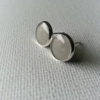Gray Earrings - Gray Studs - Grey Earrings - Grey Stud