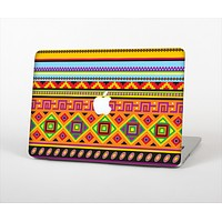 The Vector Gold & Purple Aztec Pattern V32 Skin Set for the Apple MacBook Air 11""