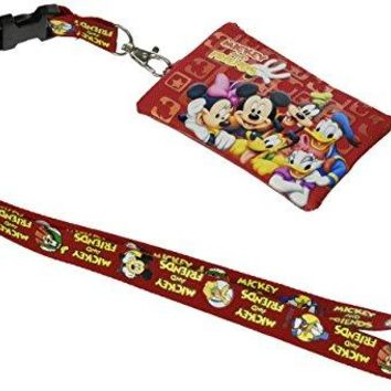 Disney Mickey Mouse and Friends Lanyard with Detachable Coin Purse