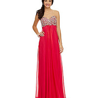 Glamour by Terani Couture Beaded Chiffon Gown | Dillards.com