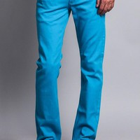 Men's Slim Fit Colored Jeans GS21 (Turquoise)