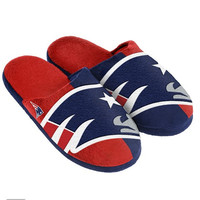New England Patriots Official NFL Youth 8-16 Split Color Slide Slipper