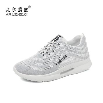 2018 New Arrival Sports Shoes Woman Lace Up Sneakers Tennis Shoes for Women Breathable Air Mesh Outdoor Walking Jogging Trainers