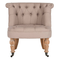 Tufted Barrel Back Chair