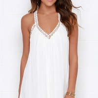 I'm Impressed Ivory Crochet Dress