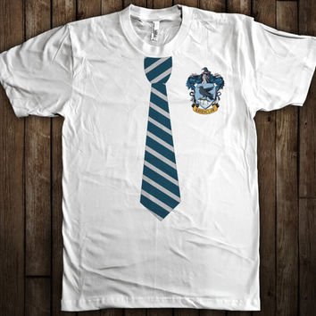 Ravenclaw Harry Potter Tie and Crest T-Shirt Hogwarts Quidditch