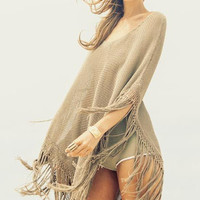 Byron Bay Pancho in moss -SOLD OUT