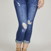 Cali Style Destroyed Skinny Jeans