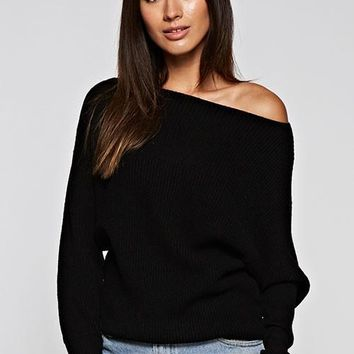 Slouchy Boatneck Sweater