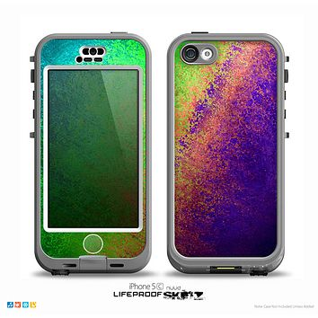 The Vivid Neon Colored Texture Skin for the iPhone 5c nüüd LifeProof Case