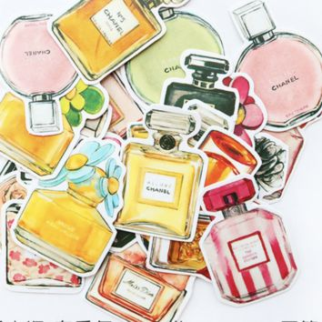 Chanel Icon Perfume Stationary Scrapbooking Stickers