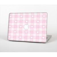 The Light Pink Heart Plaid Skin Set for the Apple MacBook Air 13""