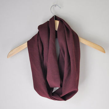 Infinity Scarf - Burgundy / Wine / Maroon / Cranberry - Fall Fashion, Fall Accessories