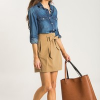 Kaylee Lightweight Denim Button Up