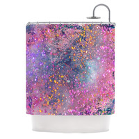 "Marianna Tankelevich ""Pink Universe"" Pink Purple Shower Curtain"