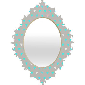 Bianca Green Geometric Confetti Party Baroque Mirror
