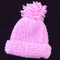 Pink Baby Girl Knitted Infant Winter Valentine's Day Sweetheart Hat
