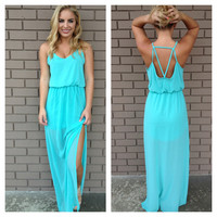 Blue Maxi Kayla Dress