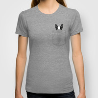 Pocket Boston Terrier T-shirt by Anne Was Here