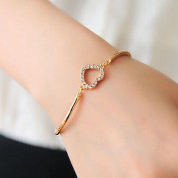 Fashion Candy Color Bracelet  Bangle Jewelry (Size: M, Color: Gold) = 1838981764