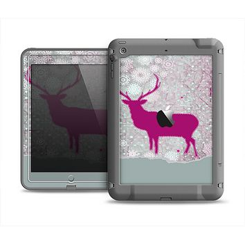 The Pink Stitched Deer Collage Apple iPad Mini LifeProof Fre Case Skin Set