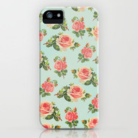 LONGING FOR SPRING- FLORAL PATTERN iPhone Case by Allyson Johnson